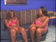 Lesbo scene with BBW ebonies licking twat
