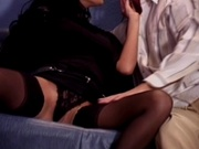 Two hot chicks banging their own partner