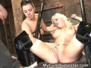 Handcuffed Blonde Amateur Girl Passed Around At Gangbang Party