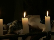 Lesbians having candle light fucking session