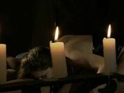 Lesbians having candle light fucking session