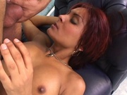 Redhead mom gets pussy eaten and fucked