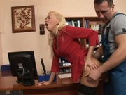Sexy chick gets fucked in the library