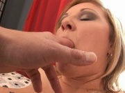 Hot mom in corset gets fat pussy pounded