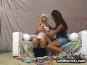 Shemale Fucking A Blonde Girl