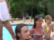 Sorority lesbians haze straight teens