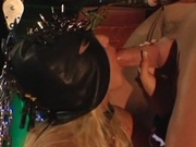 Girl in zoro mask sucking and fucking