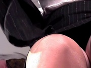 Closeup masturbation in stockings and panties