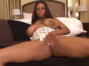 Thick lipped brown girl sucks a dick