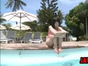 Asian Teen At The Pool Softcore