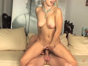 Fine blonde babe gets pussy pounded