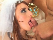 Redhead bride gets gang banged