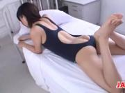 Japanese Cutie Gives A Footjob