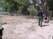 Hot ass stripper slammed at the border