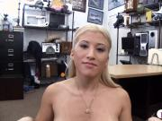 Busty babe drilled by nasty pawn keeper
