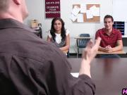 Hot Latina schoolgirl teen fucks her classmate