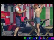 Muscular hot hentai gay hunk hardcore fucked
