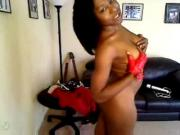 ebony girl dancing for webcam - more videos on dslwebcam.com