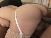 Hot wife gets fucked by two black cocks