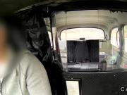 Hot British whore fucks in fake taxi