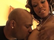 Horny black pornstars having steamy sex