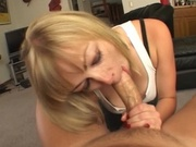 Cock sucking hottie giving a great blowjob
