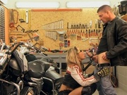Bikers pull over to have sex in the corner