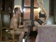 Blonde wife having an affair with a younger guy