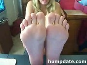 Sexy webcam girl teasing with her feet