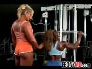 Lesbian Bodybuilders At The Gym