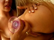 Two gorgeous babes gets man handled