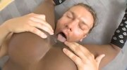 Sexy black girl penetrated by white meat