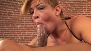 Nasty mom lets her throat fucked brutally