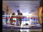 flexi latin lesbea fight on the boxing ring