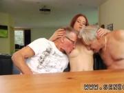 Threesome blowjob fuck Minnie Manga slurps breakfast with John and