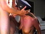 Ebony cop fucking white inmate