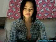 Sexy petite small tit teen masturbates on live webcam