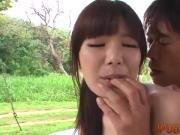 Gorgeous teen Nanaka is ready for threesome sex