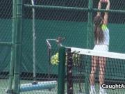 Fucking a super hot tennis chick at court shower