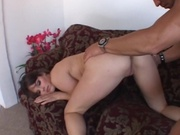This girl loves to swallow cum after anal sex