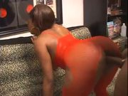 Black girl in pantyhose gets pussy nailed