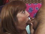 Milf pumps a dick using her pussy