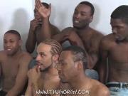 Ebony studs hardcore orgy party
