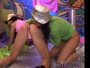 Milf teen anal threesome Hairy Kim and hairless Janet