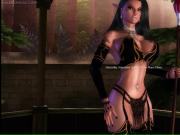 Sexy animated elf with huge melons