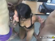 Horny Latina on a Hot Gangbang