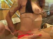 Two hot ass latina gets fucked by black dude