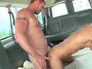 Lusty gay cums hard from deep anal penetration