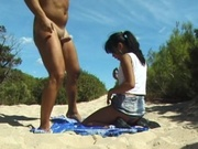 Tiny titty girl gets fucked at the beach