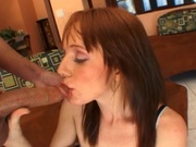 Redhead wife fucking 9 inches cock